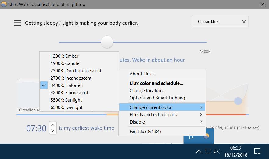 F.lux, pour ajuster la luminosité et les couleurs de votre écran