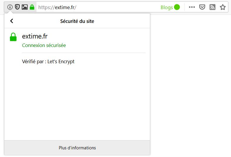 Firefox > Sécurité du site
