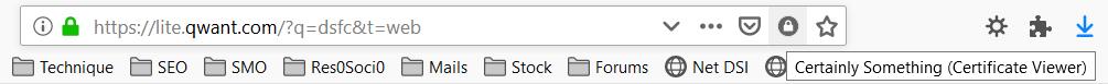 Utilisation de l'extension Certainly Something dans Firefox