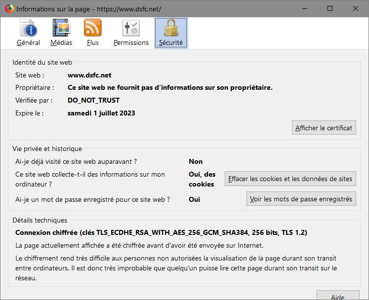 Firefox > Informations sur la Page