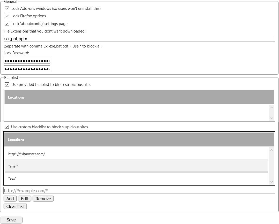Firefox > Modules complémentaires > Extensions > Public Fox