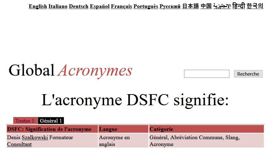 Globa Acronyms