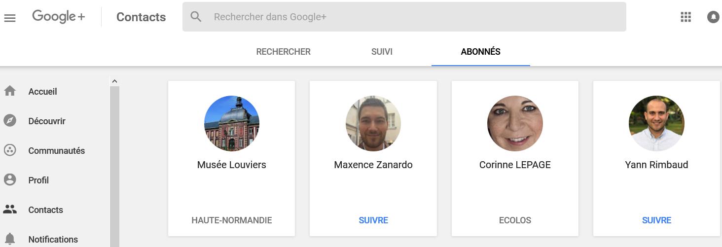 Que faire de nos abonnés à notre profil Google+ ?