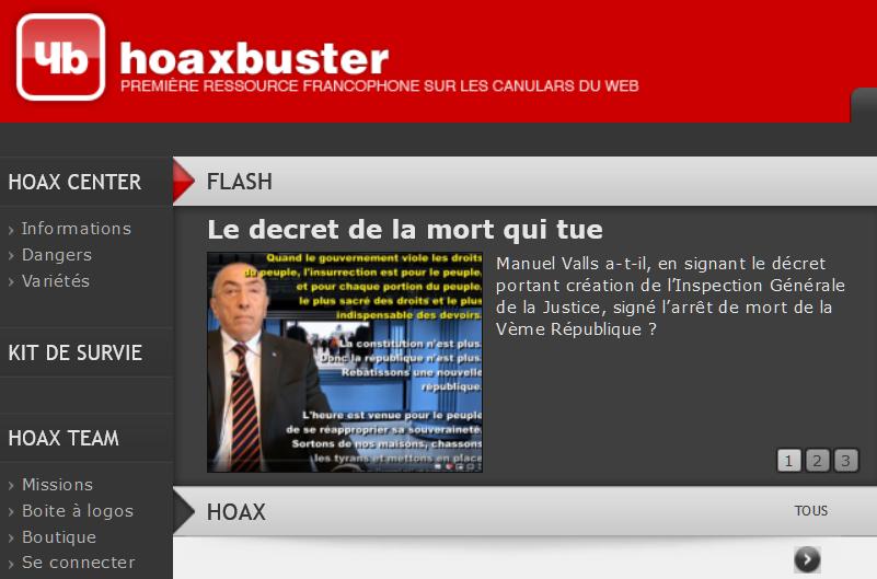 HoaxBuster, l'ancêtre qui périclite