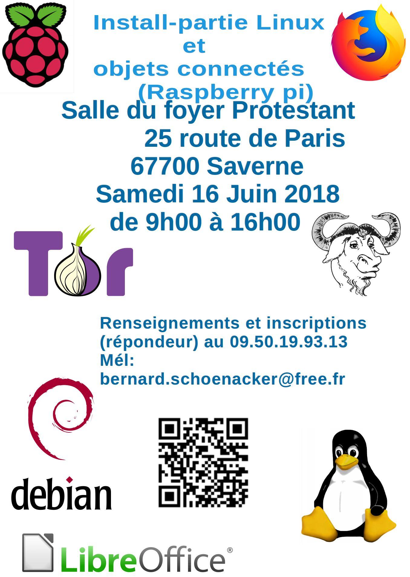 Découverte de Linux et des logiciels libres à Saverne le 16 juin