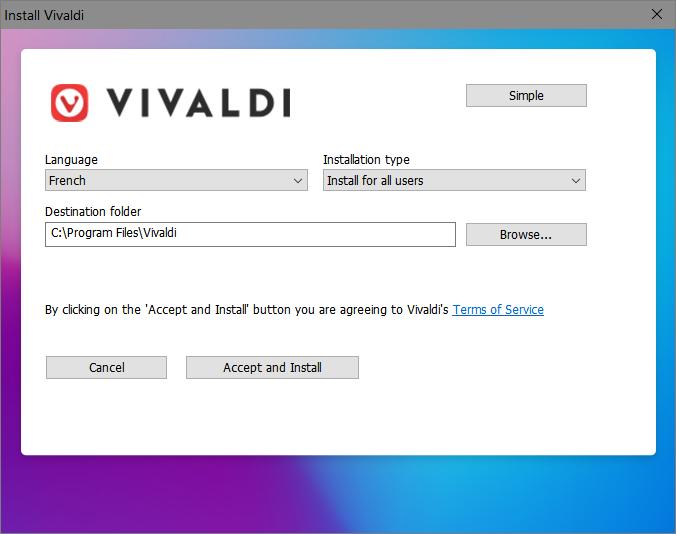 Install Vivaldi