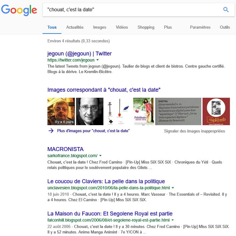 Google Search > Chouat, c'est la date