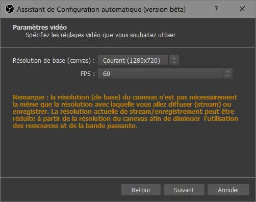 OBS > Outils > Assistant de configuration automatique > 60 FPS