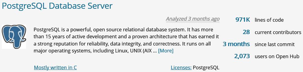 Open Hub > PostgreSQL