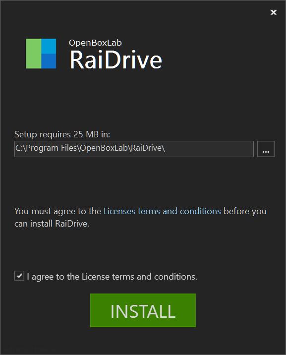 RaiDrive > Install