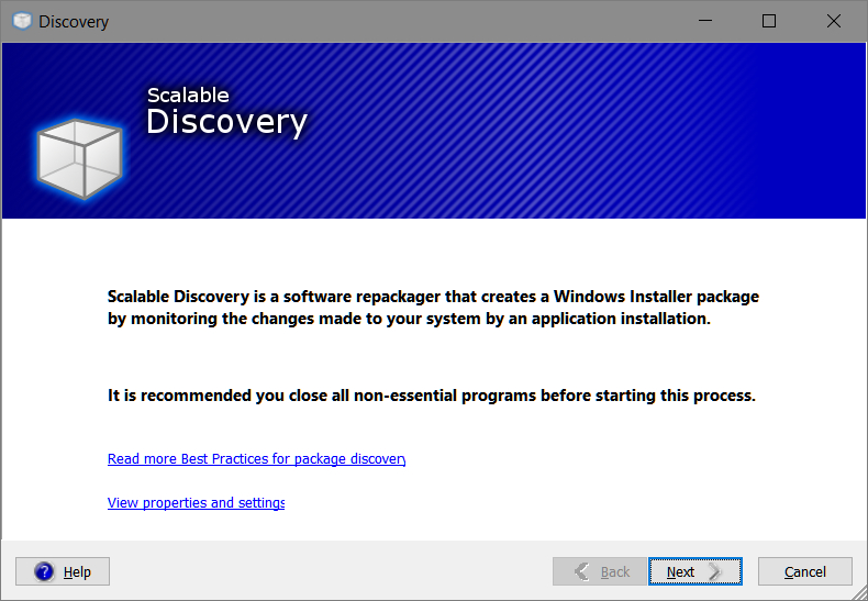 Smart Packager > Discovery