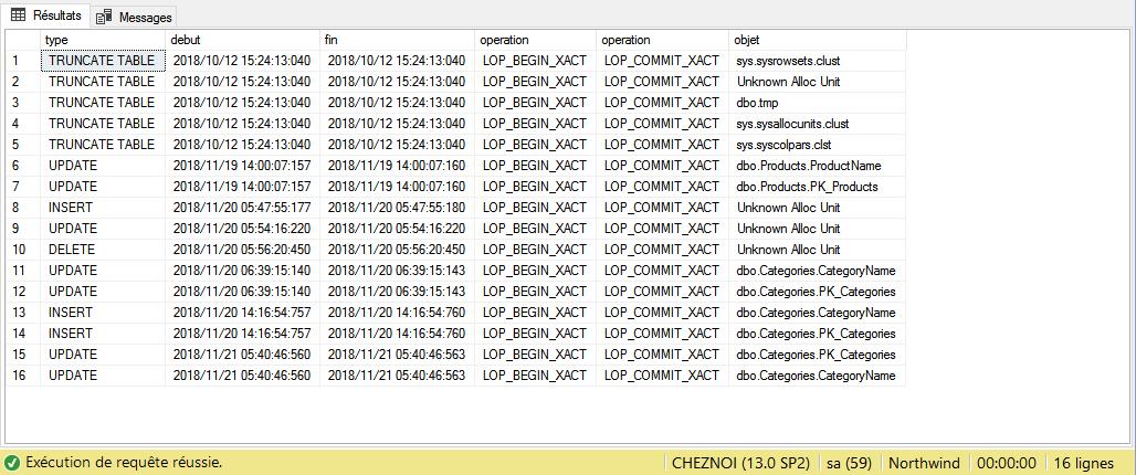 Utilisation de la fonction table sys.fn_dblog