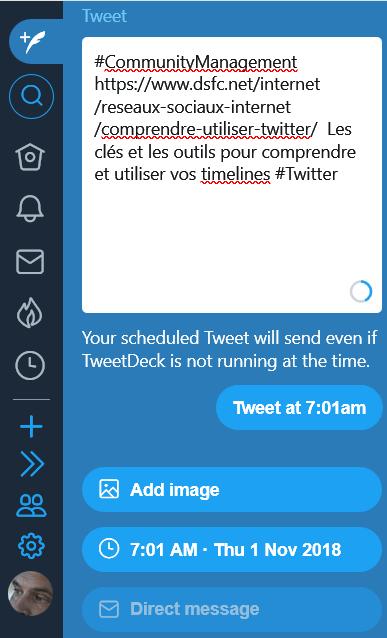 Programmer vos tweets avec TweetDeck