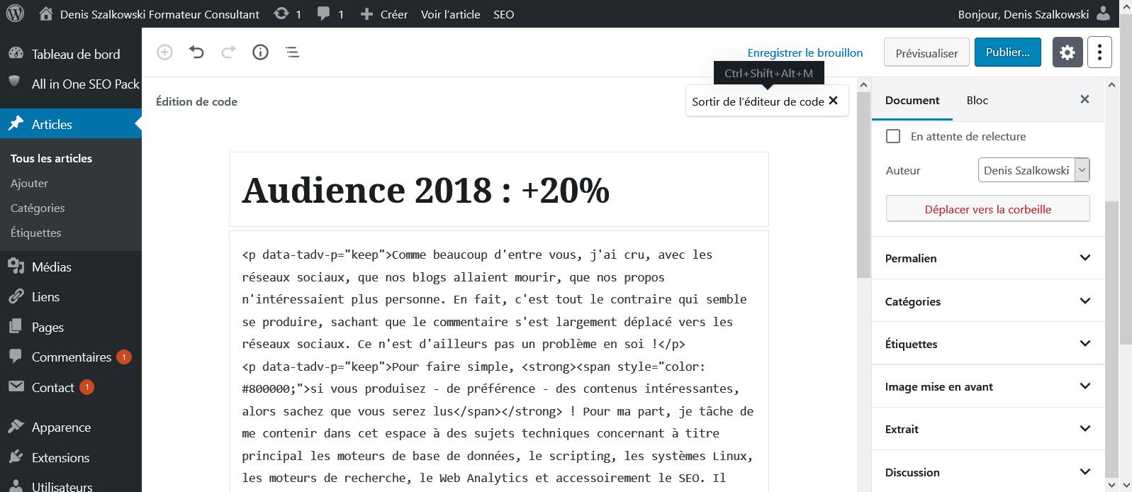 WordPress : désactiver Gunteberg