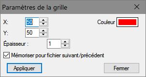 Affichage > Paramètres de la grille